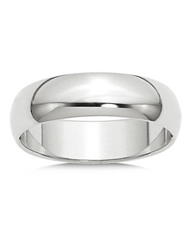 Bloomingdale's - Men's 6mm Half Round Band Ring in 14K White Gold - 100% Exclusive
