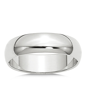 Bloomingdale's Men's 6mm Half Round Band Ring in 14K White Gold - 100% Exclusive