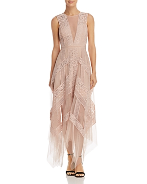 Bcbgmaxazria Lace Illusion Dress