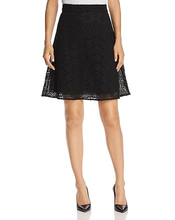 kate spade new york - Floral-Lace A-Line Skirt