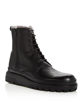 Vince - Men's Edgar Leather & Shearling Lace Up Boots
