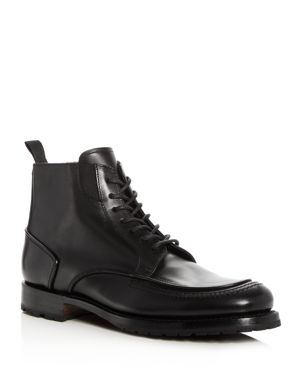 Canali Men's Leather Apron Toe Boots