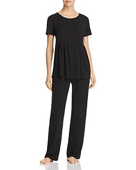Donna Karan - Basics Short-Sleeve Top & Lounge Pants