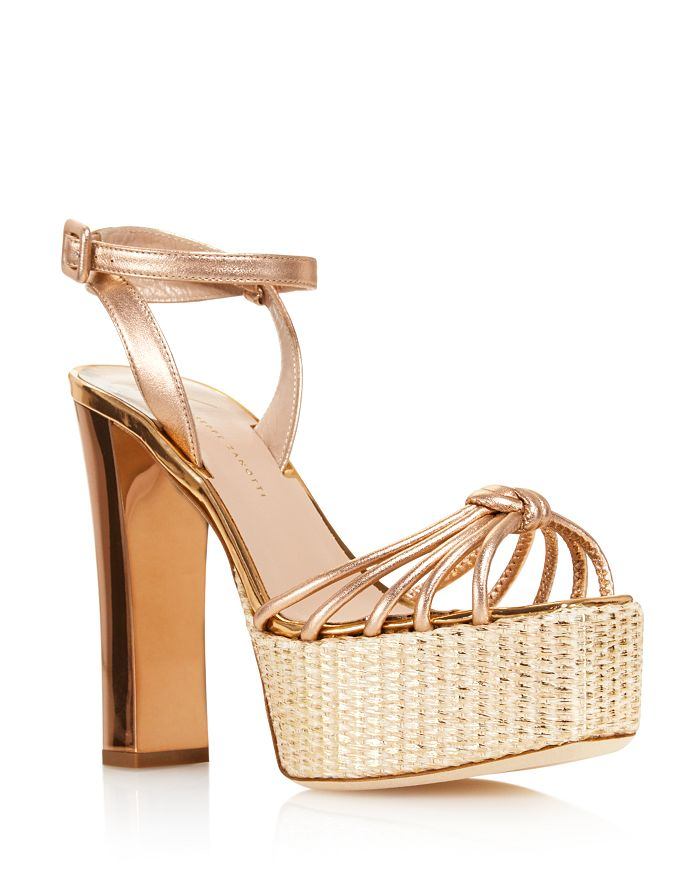 1b1d653c4c0 Giuseppe Zanotti - Women s Leather High-Heel Platform Sandals - 100%  Exclusive