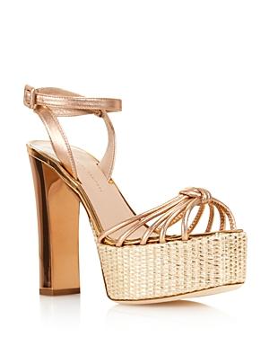 Giuseppe Zanotti Women's Leather High Heel Platform Sandals - 100% Exclusive