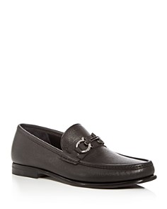Salvatore Ferragamo - Men's Crown Leather Moc Toe Loafers