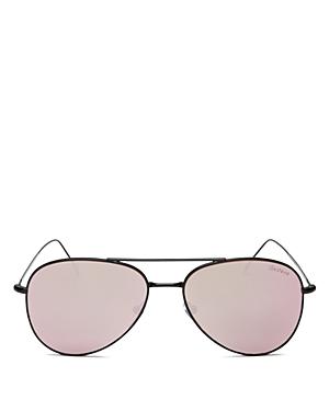 Illesteva Wooster Mirrored Aviator Sunglasses, 58mm