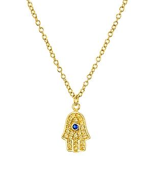 Aqua Sterling Silver Pendant Necklace, 15 - 100% Exclusive
