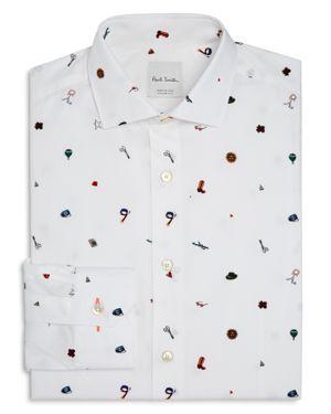 Paul Smith 1970s Print Slim Fit Dress Shirt 2816092