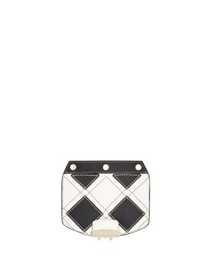 MY PLAY INTERCHANGEABLE METROPOLIS MINI DIAMOND CHECK LEATHER FLAP