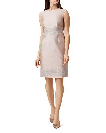 HOBBS LONDON - Fran Appliquéd Sheath Dress
