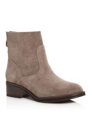 Gentle Souls Women's Parker Suede Low Heel Booties 2845029
