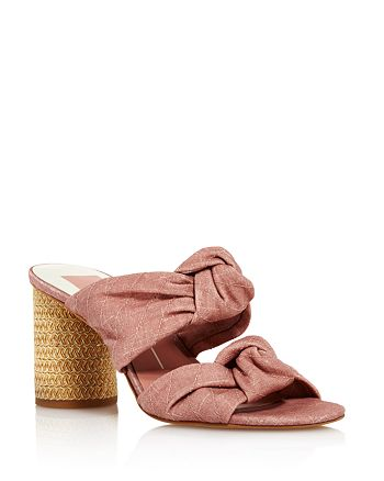 Dolce Vita - Women's Jene Knotted Block Heel Slide Sandals - 100% Exclusive