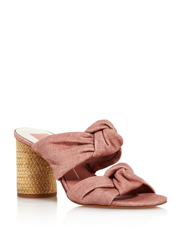 Dolce Vita Women's Jene Knotted Block Heel Slide Sandals - 100% Exclusive 3sGE7Ig