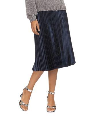 $Whistles Pleated Satin Skirt - Bloomingdale's