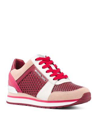 Billie Mixed-Media Color-Block Sneakers