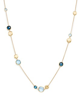 """Marco Bicego - 18K Yellow Gold Jaipur Mixed Blue Topaz Collar Necklace, 16"""" - 100% Exclusive"""