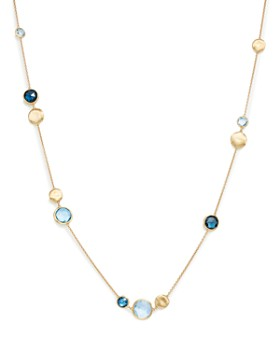"Marco Bicego - 18K Yellow Gold Jaipur Mixed Blue Topaz Collar Necklace, 16"" - 100% Exclusive"