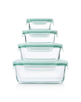 OXO - 8-Piece Smart Seal Glass Rectangle Container Set