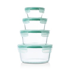 OXO - 8-Piece Smart Seal Glass Round Container Set