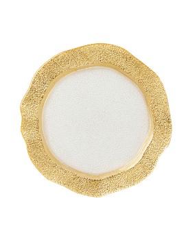 VIETRI - Rufolo Glass Gold Organic Salad Plate