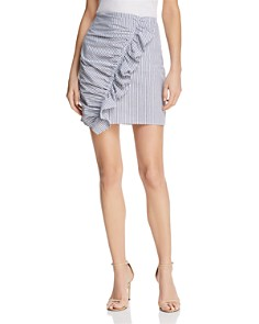 The Fifth Label - Anagram Striped Ruffled Skirt