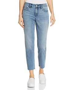 NYDJ Petites Jenna Raw-Hem Straight Ankle Jeans in Pointe Dune - 100% Exclusive - Bloomingdale's_0