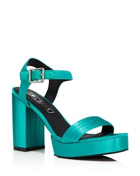 Sol Sana - Women's Cathy Satin Platform Sandals - 100% Exclusive