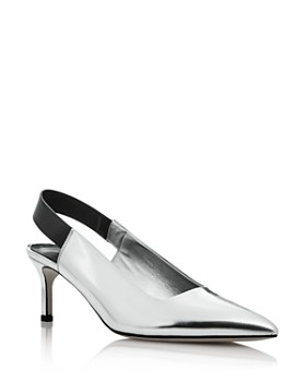 Via Spiga - Women's Blake Leather Pointed Toe Slingback Pumps - 100% Exclusive
