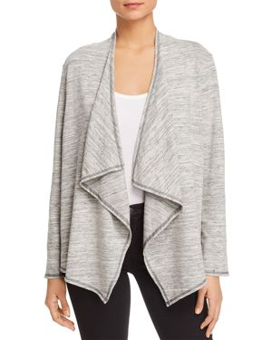 STATUS BY CHENAULT DRAPED OPEN-FRONT CARDIGAN