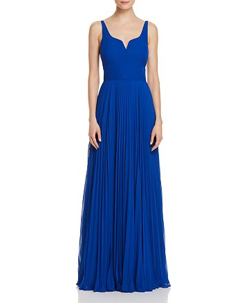 9394544e4 Laundry by Shelli Segal Pleated Chiffon Gown | Bloomingdale's