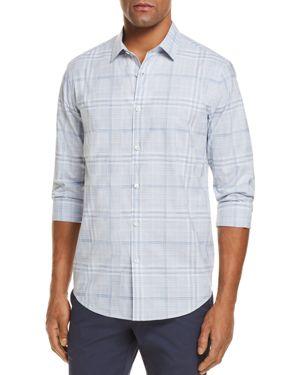 Theory Murarry Plaid Long Sleeve Button-Down Shirt