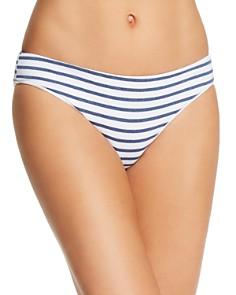 Splendid - Chambray Stripe Retro Bikini Bottom