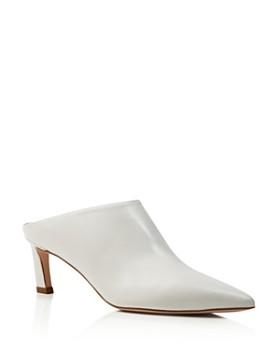 Stuart Weitzman - Women's Mira Leather Pointed Toe High-Heel Mules