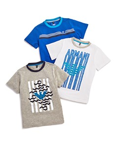Armani Junior Boys' Logo Tees, Set of 3 - Little Kid, Big Kid - Bloomingdale's_0