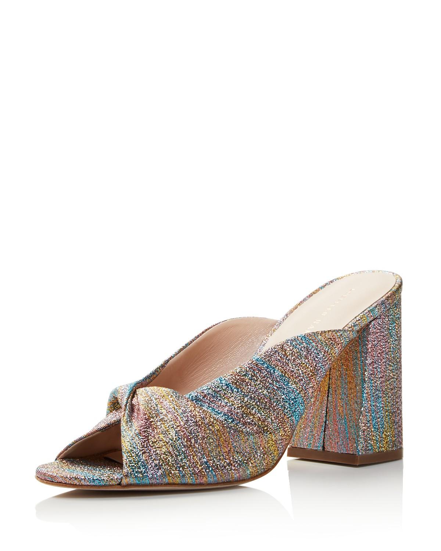 Loeffler Randall Women's Laurel Shimmer Block Heel Slide Sandals - 100% Exclusive kaS1hkiKM