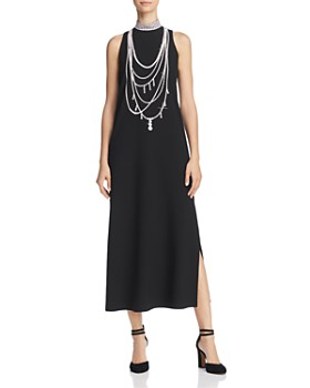 Boutique Moschino - Pearl-Print Midi Dress