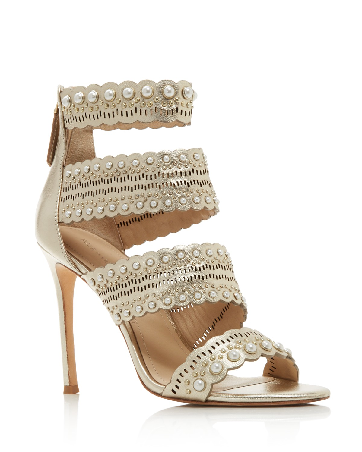 Buy Cheap For Nice Pour La Victoire Women's Ellura Embellished Leather High-Heel Sandals Clearance Finishline Explore eNcQyq