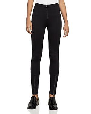 Bcbgmaxazria Christopher Zip-Detail Moto Leggings