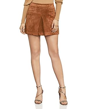 Bcbgmaxazria Corinne Faux Suede Mini Skirt