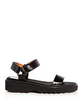 Aquatalia - Women's Wande Weatherproof Embossed Patent Leather Platform Wedge Sandals