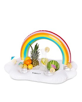 Funboy - Rainbow Cloud Inflatable Drink Holder