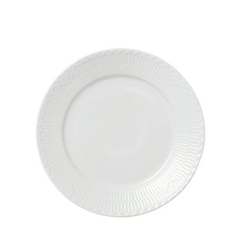 Royal Copenhagen - White Fluted Half Lace Salad Plate