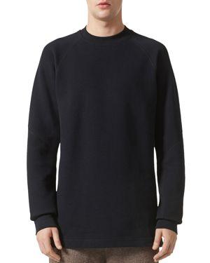 ADIDAS/WINGS AND HORNS Adidas/Wings And Horns Double Waffle Knit Crewneck Long Sleeve Shirt in Black
