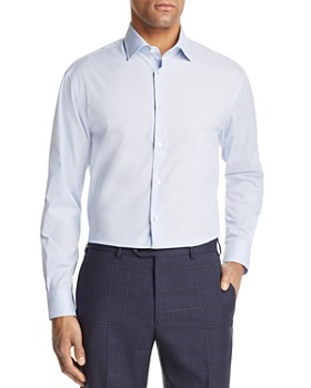 Emporio Armani - Dotted Pinstripe Regular Fit Button-Down Shirt