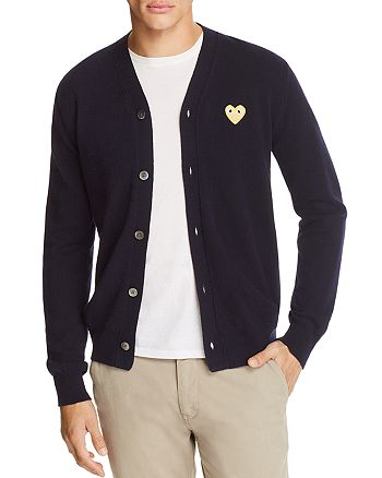 Comme Des Garcons PLAY - Gold Heart Cardigan Sweater