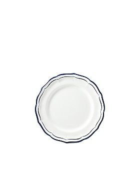 Gien - Filet Indigo Blue Canape Bread & Butter Plate
