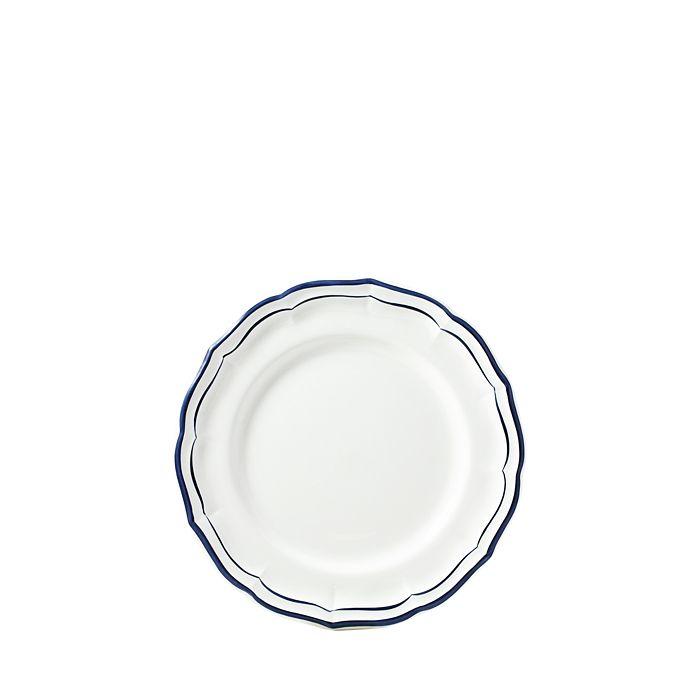 Gien France - Filet Indigo Blue Canape Bread & Butter Plate