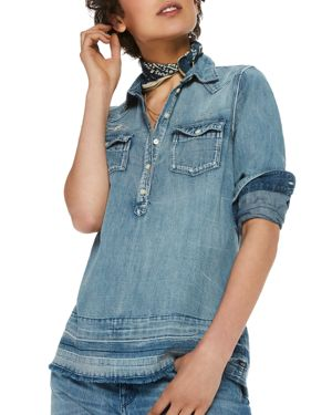 Scotch & Soda Released-Hem Denim Shirt