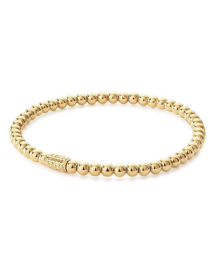 LAGOS - Caviar Gold Collection 18K Gold Beaded Bracelet, 4mm